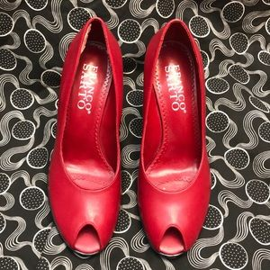 EUC - Franco Sarto - Red Leathre Heels